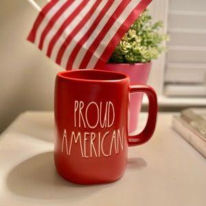 rae dunn proud american mug